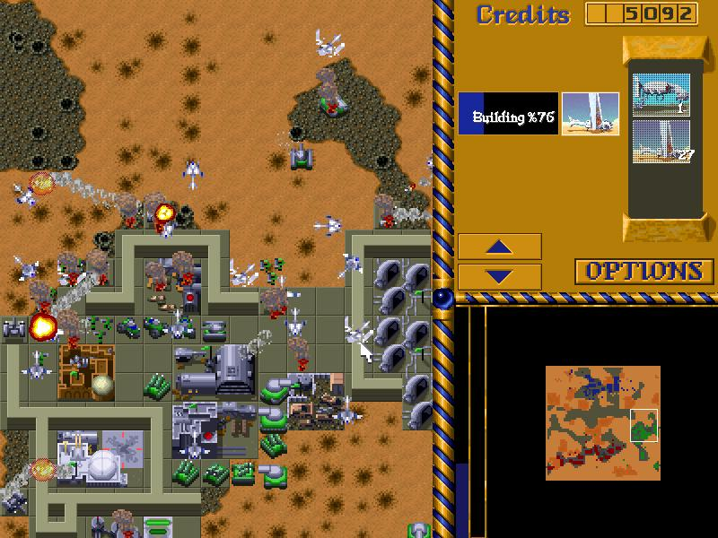 Dune 2 - The Maker in action with an air-attack against the Ordos